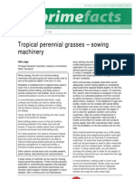 Tropical Perennial Grasses Sowing Machinery