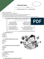 evaluacion lenguaje tercero básico