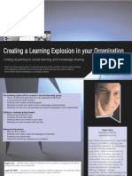 Creating a learning explosion in your organisation Linking eLearning to social learning and knowledge sharing