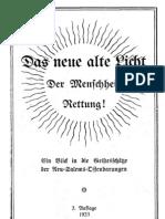 Neu-Salems-Schriften - Das neue alte Licht