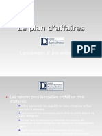Le Plan d'affaires