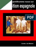 Lettres a Un Gentilhomme Russe Sur l'Inquisition Espagnole - Comte J de Maistre