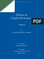 Oeuvres de Charles de Kon