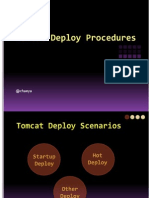 Tomcat Deploy Procedures