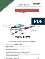 Flight Manual p2002 Sierra