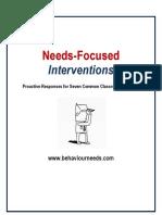 Needs Focused Interventions