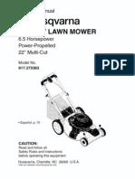 Husqvarna 22 in Mower Model 917.373363 Manual