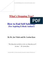 Self Sabotage E Book