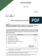 Progetto Valorizzazione Prodotti Tipici 39^ Sagra / Comune di Filiano / Delibera n. 82 Del 12.8.2011