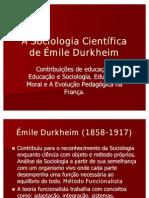 A Sociologia Científica de Émile Durkheim