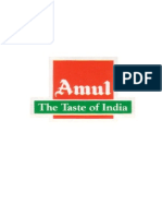 SUMMER TRAINING PROJECT REPORT ON AMUL Tarun
