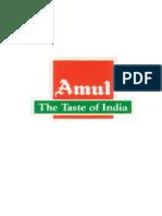 SUMMER TRAINING PROJECT REPORT ON AMUL Tarun