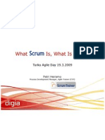 What Scrum is What It is Not - Heiramo