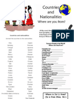 Nationalities and Countries