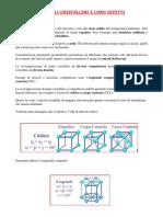 Reticoli Cristallini e Loro Difetti_1