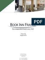 Press Kit - Book Inn France, Fine independant hotels since 1923