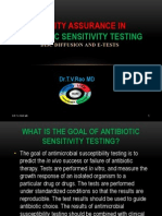 antibiotic sensitivity testing QC