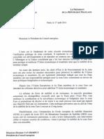 Lettre commune Sarkozy-Merkel adressée à Van Rompuy