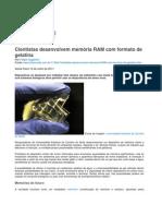 11594 Cientistas Desenvolvem Memoria Ram Com Formato de Gelatina