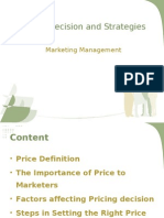 Pricing Decision and Strategies