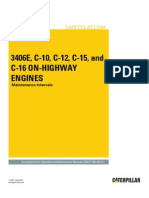 3406E, C-10, C-12, C-15 and C-16 on-Highway Engines-Maintenance Intervals