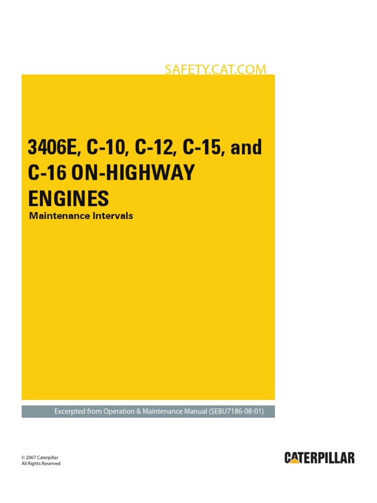 3406e c 10 c 12 c 15 and c 16 on highway engines maintenance rh es scribd com caterpillar 3406e service manual pdf caterpillar 3406 service manual pdf