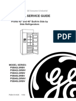 GE Profile 42 and 48 Inch Built-In Side by Side Refrigerators Service Manual