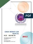 Logic Design Lab Manual 10ESL38  3rd sem 2013