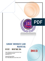 Logic Design Lab Manual 10ESL38  3rd sem 2013