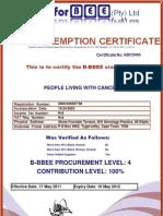 PLWC BEE Certificate