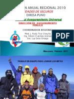 EVALUACIÓN ANUAL 2010_UNIDADES DE SEGUROS - SIS