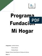 PROGRAMA DE FUNDACIÓN MI HOGAR