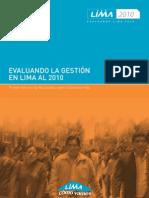 Primer Informe Evaluando Lima2010 de Lima Cómo Vamos