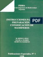 Instrucciones Para Preparacion y Conservacion