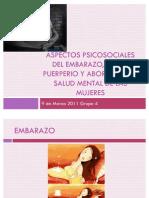 Aspectos Psicosociales Del Embarazo, Parto, Puerperio