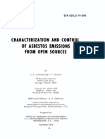 EPA 650-2!74!090 Characterization and Control of Asbestos Emissions From Open Sources