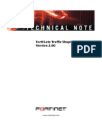 FortiGate Traffic Shaping Tech Note