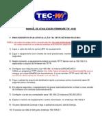 MANUAL DE ATUALIZAÇÃO FIRMWARE TW