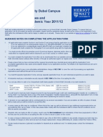 Application Guidelines and Fee Structure 2011