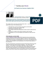 Human Rights and Family Law Summer Update 2011