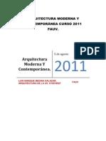 Arquitectura Moderna y Contemporanea / Ensayo