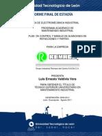 Reporte Final de estadia Plan de Control Y Manejo de Almacenes de Partes y Refacciones universidad tecnologica de leon