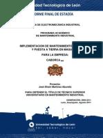 Reporte final de estadia Jose Efrain Martinez Abundiz Universidad Tecnologica de leon