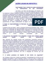 DIREITOS E OBRIGAÇÕES LEGAIS NA HEPATITE C