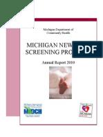 Newborn Screening Annual Report 2010