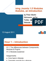 Programming Modules for Joomla 1.5, 1. Modules, an Introduction