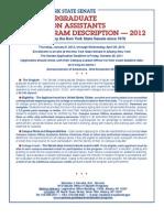 2012 Undergrad Student Programs Description n