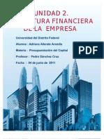 UNIDAD 2 ESTRUCTURA FINANCIERA