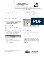 Microsoft Word 2003 Reference Guide