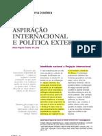 Lima Aspiracao Internacional e Pol Externa